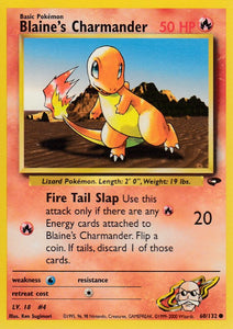 Blaine's Charmander 60/132 Gym Challenge Set Common