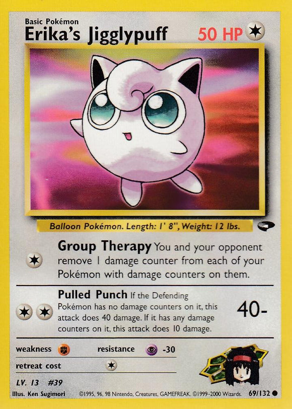 Erika's Jigglypuff 69/132 Gym Challenge Set Common