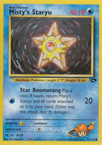 Misty's Staryu 92/132 Gym Challenge Set Common
