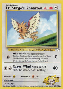 Lt. Surge's Spearow 83/132 Gym Heroes Set Common