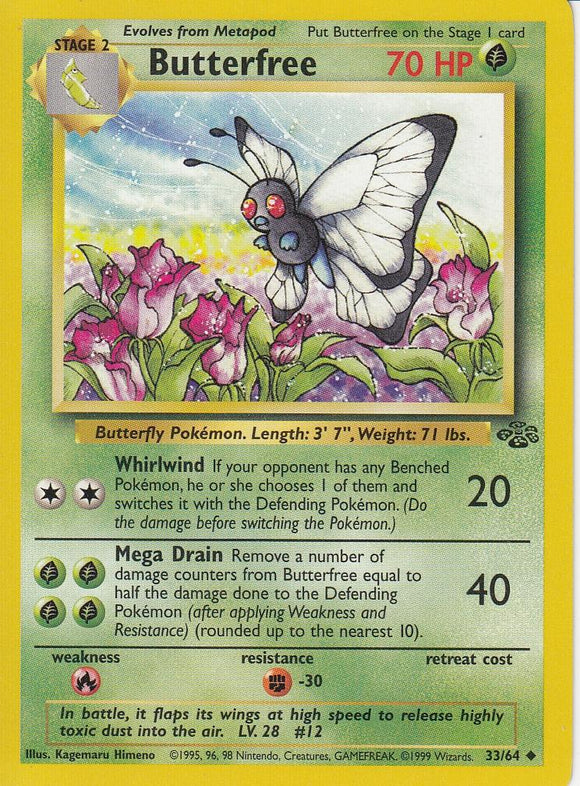 Butterfree 33/64 Jungle Set Unlimited Uncommon