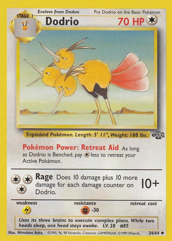 Dodrio 34/64 Jungle Set Unlimited Uncommon