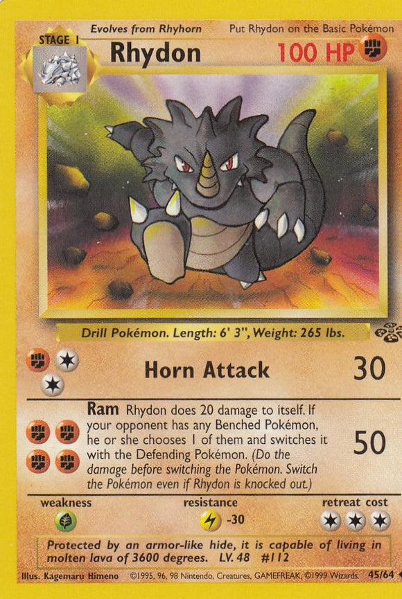 Rhydon 45/64 Jungle Set Unlimited Uncommon