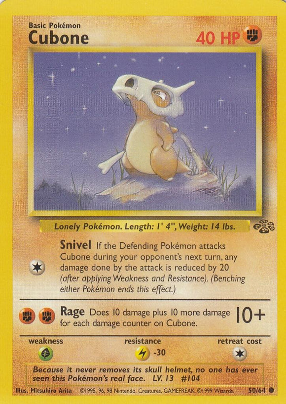 Cubone 50/64 Jungle Set Unlimited Common
