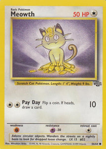 Meowth 56/64 Jungle Set Unlimited Common