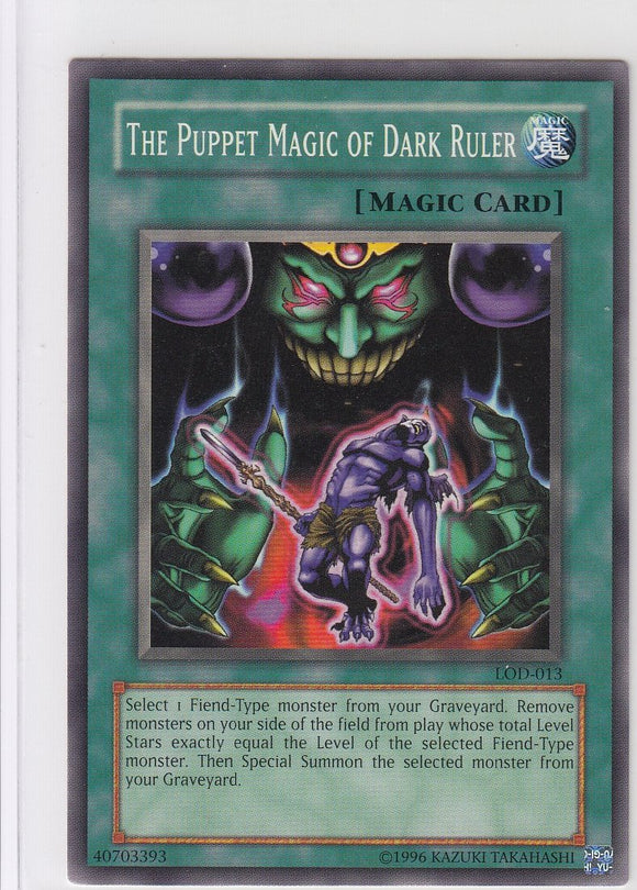 The Puppet Magic of Dark Ruler