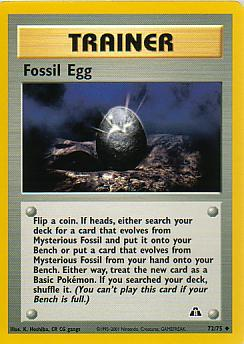 Fossil Egg 72/75 Neo Discovery Uncommon