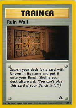 Ruin Wall 74/75 Neo Discovery Uncommon