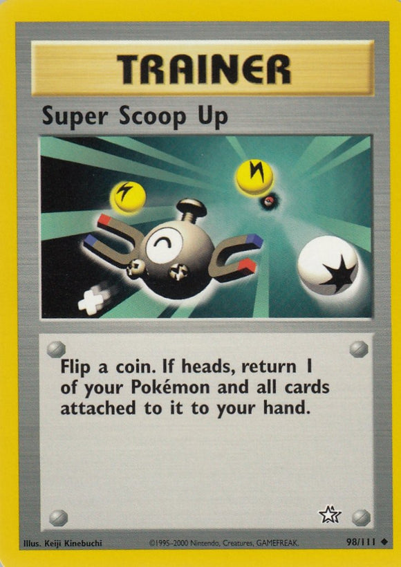 Super Scoop Up 98/111 Neo Genesis Uncommon