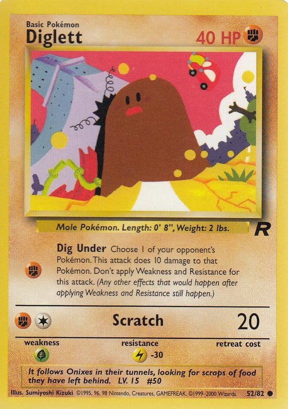 Diglett 52/82 Team Rocket Common