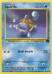 Squirtle 68/82 Team Rocket Common