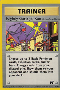 Nightly Garbage Run 77/82 Team Rocket Uncommon