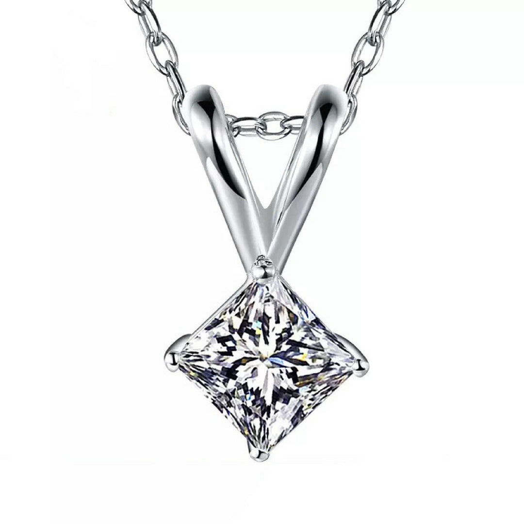 halo j with products inc necklace cut a square princess diamond
