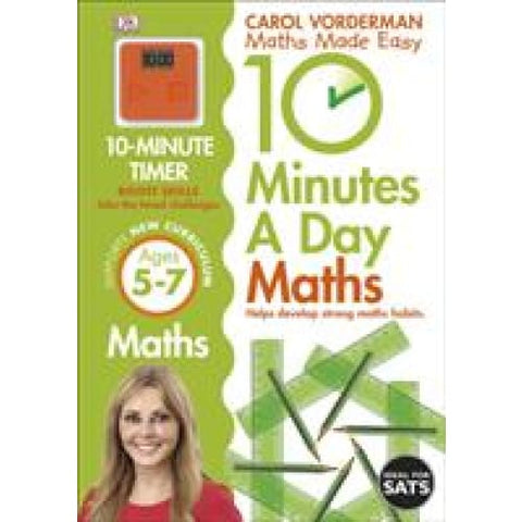 10 Minutes a Day Maths Ages 5-7 Key Stage 1 - Dorling Kindersley 9781409365419