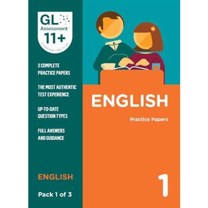 11+ Practice Papers English Pack 1 (Multiple Choice) - GL Assessment 9780708727553
