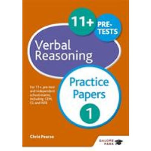 11+ Verbal Reasoning Practice Papers 1: For pre-test and independent school exams including CEM GL ISEB - Hodder Education 9781471849299
