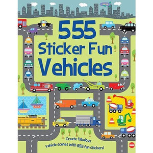 555 Sticker Fun Vehicles - Imagine That Publishing 9781789580440