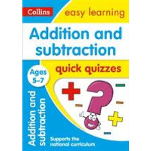 Addition & Subtraction Quick Quizzes Ages 5-7 - HarperCollins Publishers 9780008212476