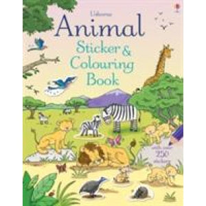 Animal Sticker and Colouring Book - Usborne Books