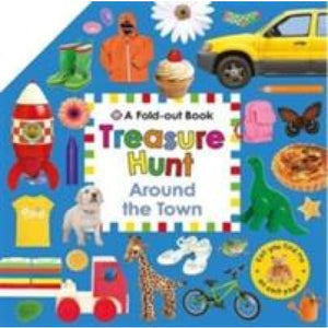 Around the Town: Fold Out Treasure Hunts - Priddy Books 9781783411085