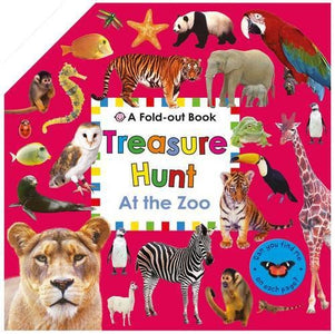 At The Zoo: Fold Out Treasure Hunt - Priddy Books 9781783411092
