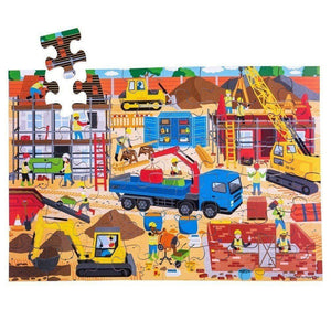 Bigjigs Construction Site Floor Puzzle (48 piece) - Toys 691621029145