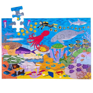 Bigjigs Under the Sea Floor Puzzle (48 piece) - Toys 691621029176