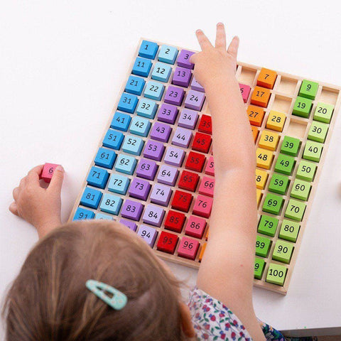 Image of Bigjigs Wooden Number Tray - Toys 691621171448