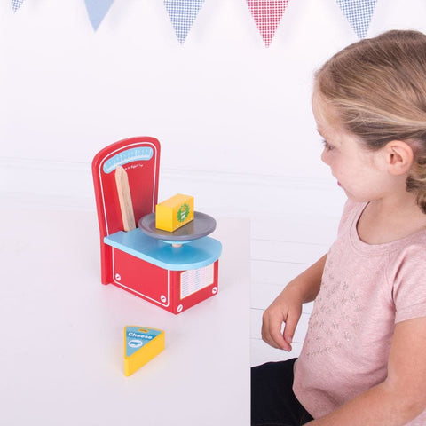 Image of Bigjigs Wooden Play Scales - Toys 691621024676