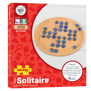 Bigjigs Wooden Solitaire - Toys 691621021521