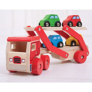 Bigjigs Wooden Transporter Lorry - Toys 691621537978