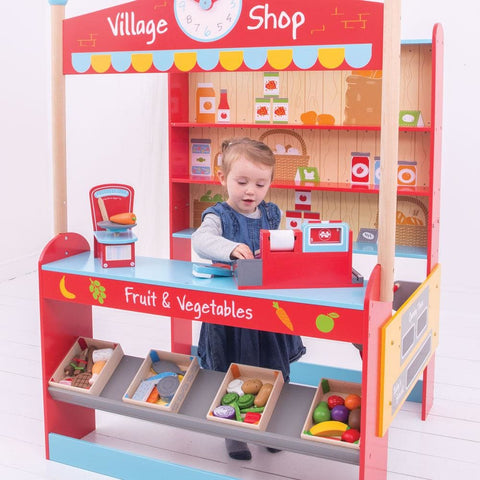 Image of Bigjigs Wooden Village Shop - Toys 691621024881