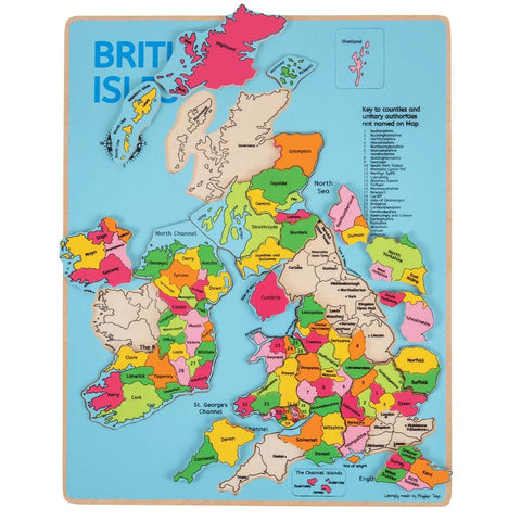 Image of British Isles Inset Wooden Puzzle - Bigjigs Toys 691621020494