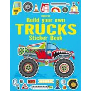 Build Your Own Trucks Sticker Book - Usborne Books
