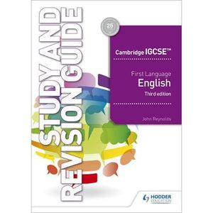 Cambridge IGCSE First Language English Study and Revision Guide 3rd edition - Hodder Education 9781510421349