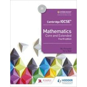 Cambridge IGCSE Mathematics Core and Extended 4th edition - Hodder Education 9781510421684