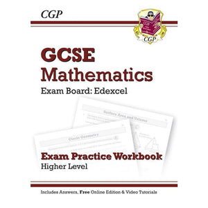 CGP GCSE Maths Edexcel Exam Practice Workbook with answers & online edn: Higher - Books