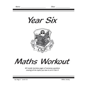 CGP KS2 Maths Workout Book - Year 6 - Books