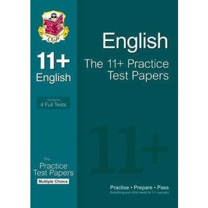 CGP The 11+ English Practice Test Papers: Multiple Choice - Books