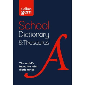 Collins Gem School Dictionary & Thesaurus: Trusted Support for Learning in a Mini-Format - HarperCollins Publishers 9780008321161