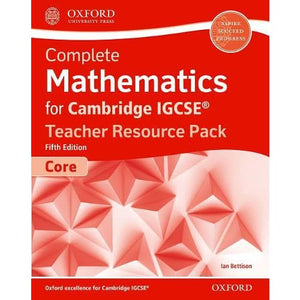 Complete Mathematics for Cambridge IGCSE (R) Teacher Resource Pack (Core) - Oxford University Press 9780198427995