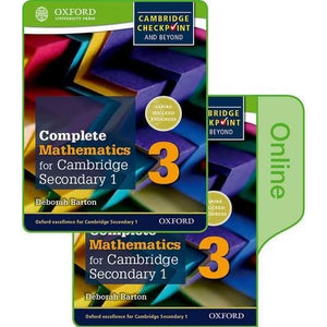 Complete Mathematics for Cambridge Lower Secondary Book 3: Print and Online Student - Oxford University Press 9780198379676