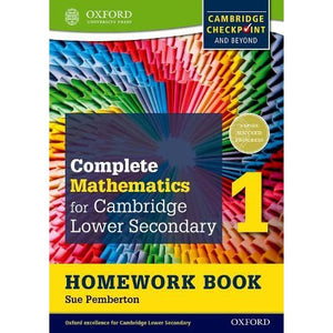 Complete Mathematics for Cambridge Lower Secondary Homework Book 1 (Pack of 15): For Checkpoint and beyond - Oxford University Press
