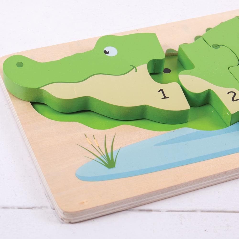 Crocodile Wooden Number Puzzle (BJ029
