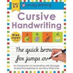 Cursive Handwriting: Wipe Clean Workbooks - Priddy Books 9781783416103