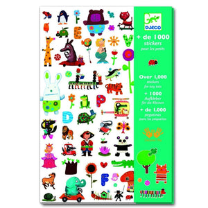 Djeco 1000 Stickers for Little Ones Create with - 3070900089501