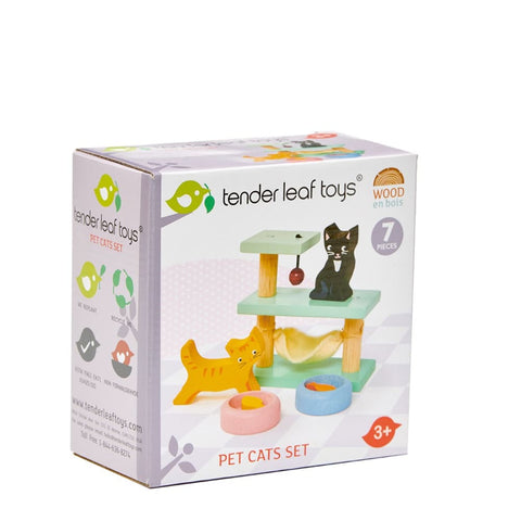 Image of Dovetail Dolls House Pet Cats Set - Tender Leaf Toys