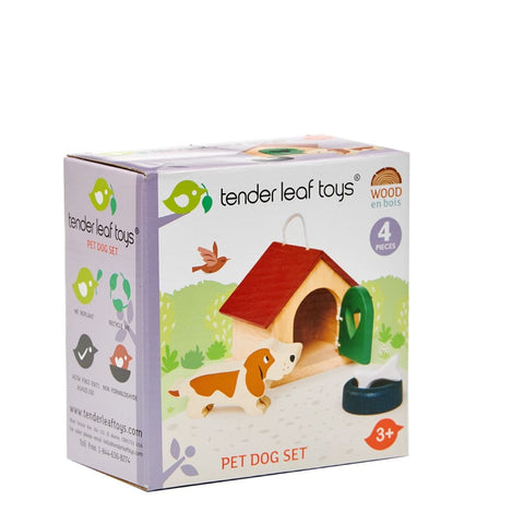 Image of Dovetail Dolls House Pet Dog Set - Tender Leaf Toys