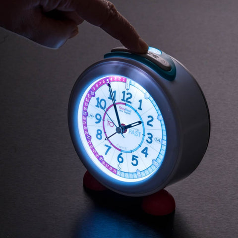 Image of Easyread Time Teaching Past- to Alarm Clock Red & Blue - Teacher 0799439457935