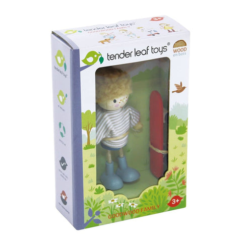 Image of Edward and his Skateboard - Tender Leaf Toys